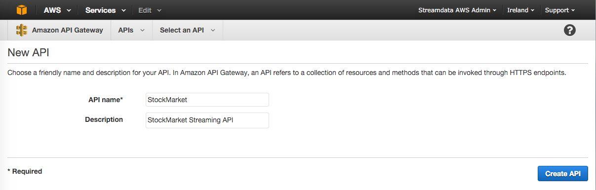 Stream your AWS API Gateway