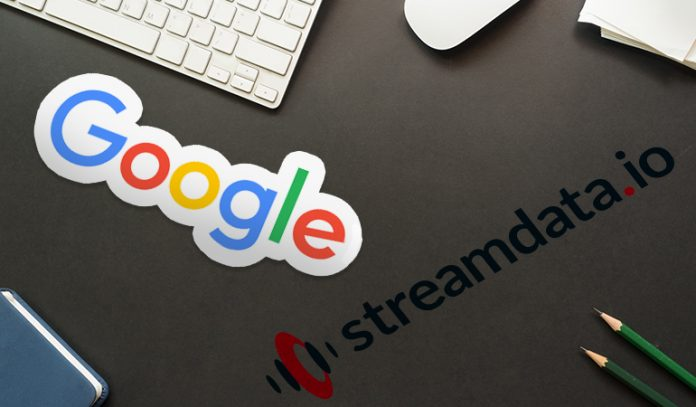 Google logo and Streamdata.io logo