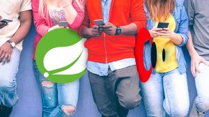 People on mobile phones with Spring and Streamdata.io logos
