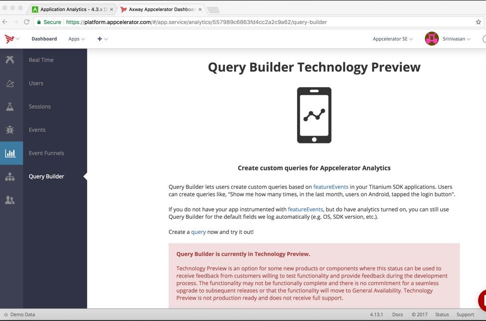 Axway Appcelerator Dashboard Updates