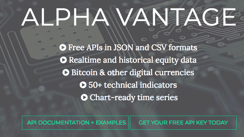 A Robust Set Of Market Data APIs Over At Alpha Vantage