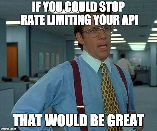 API Rate Limiting vs streaming