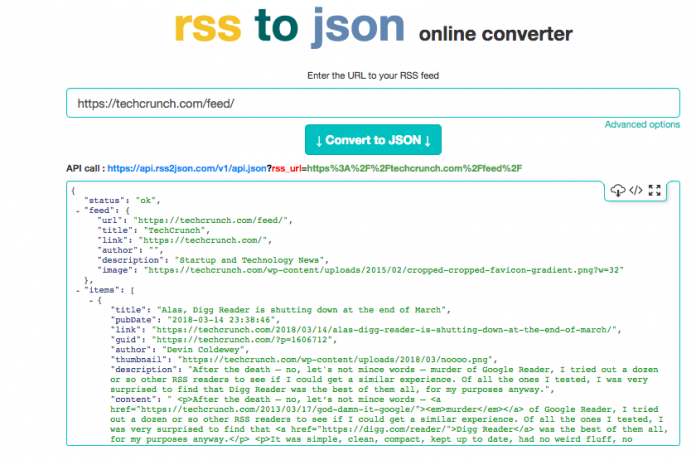 Streaming RSS Feeds Using Streamdata io And The RSS to JSON API