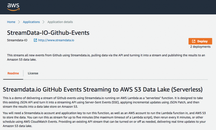 An AWS Lambda Function For Streaming GitHub Events Into Your S3 Data
