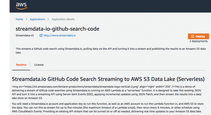AWS Lambda Function For Streaming GitHub Code Search Into Your S3