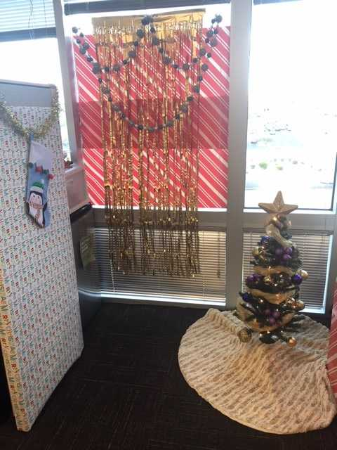 Axway office holiday decorations