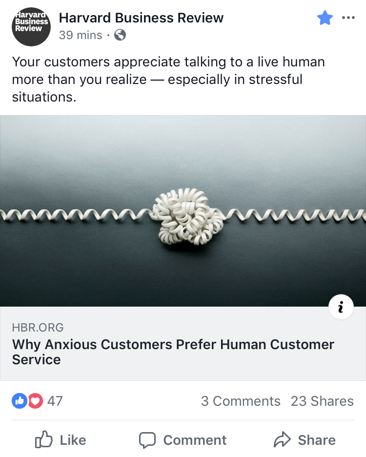 Customers Appreciate Live Humans When Stressed or Stuck