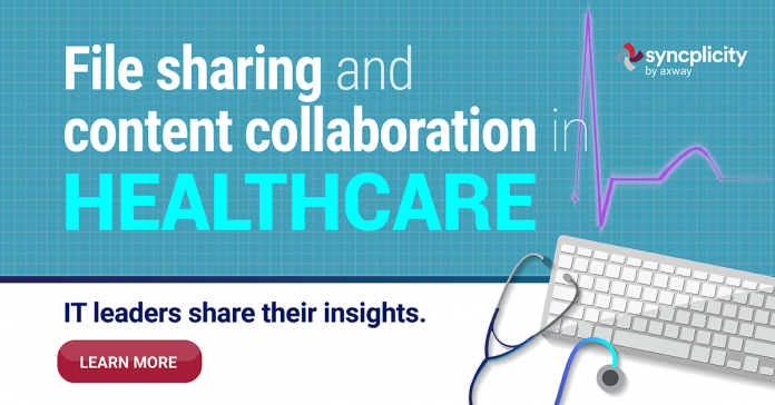 File sharing and content collaboration in healthcare