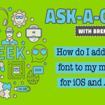 Add custom font to iOS and Android mobile App