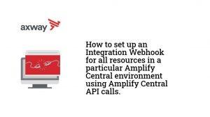 Amplify Central Integration Webhooks - Basics