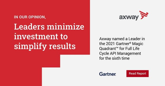 Axway a Leader in the 2021 Magic Quadrant for Full Life Cycle API Management