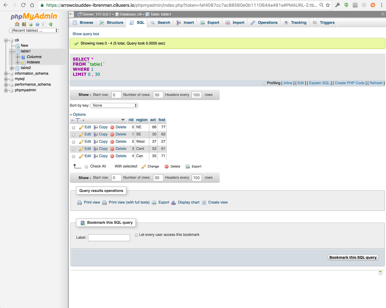 Arrow Builder API Development with Cloud9