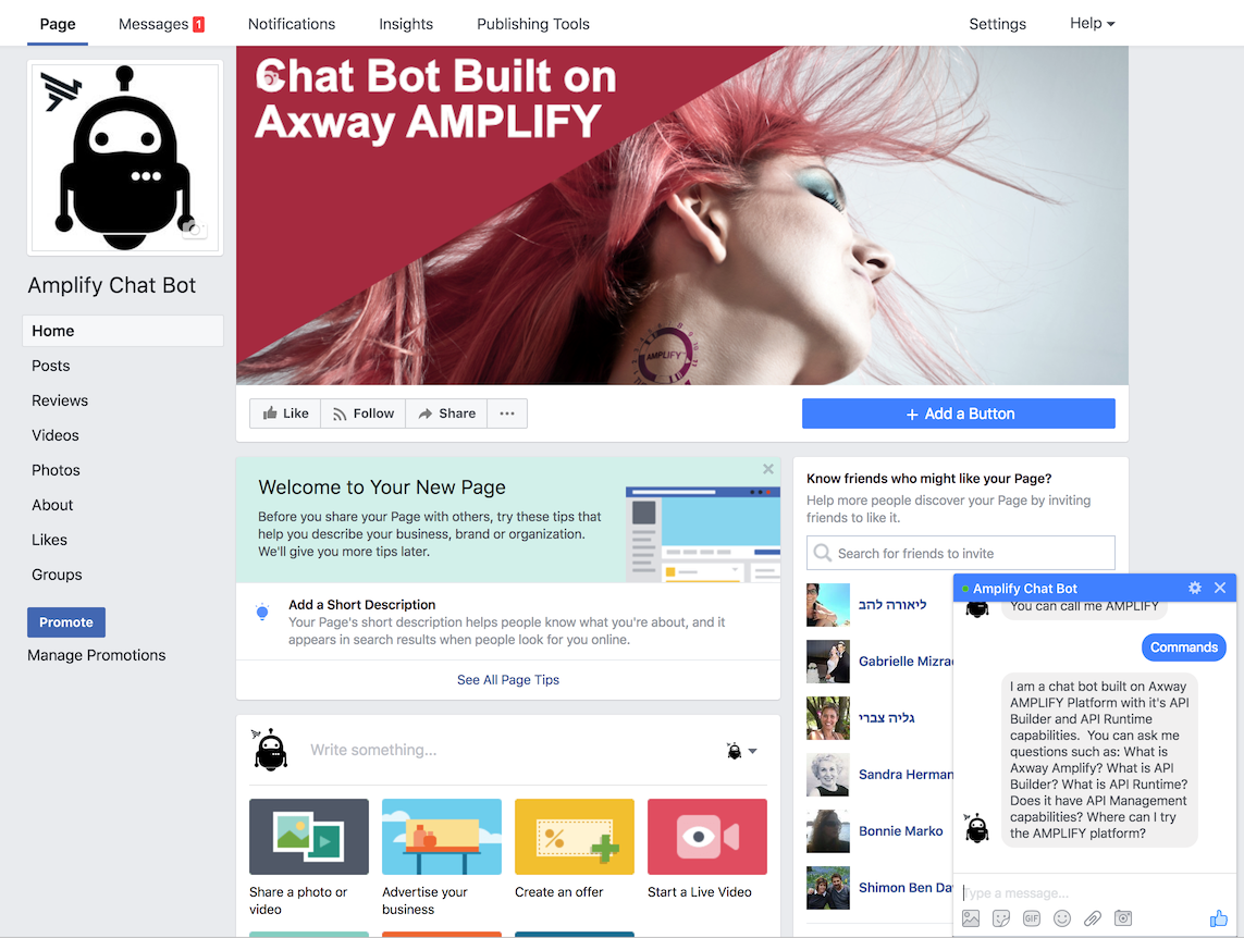 Facebook Chatbot Example