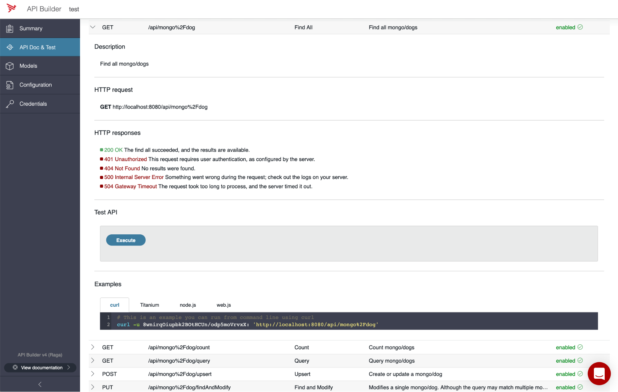 See the automatically-generated API Doc