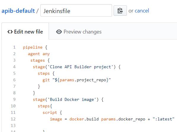 create new jenkins file