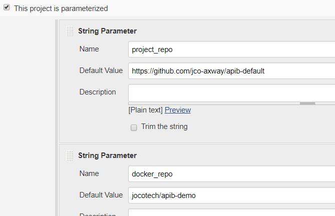 add string parameter information