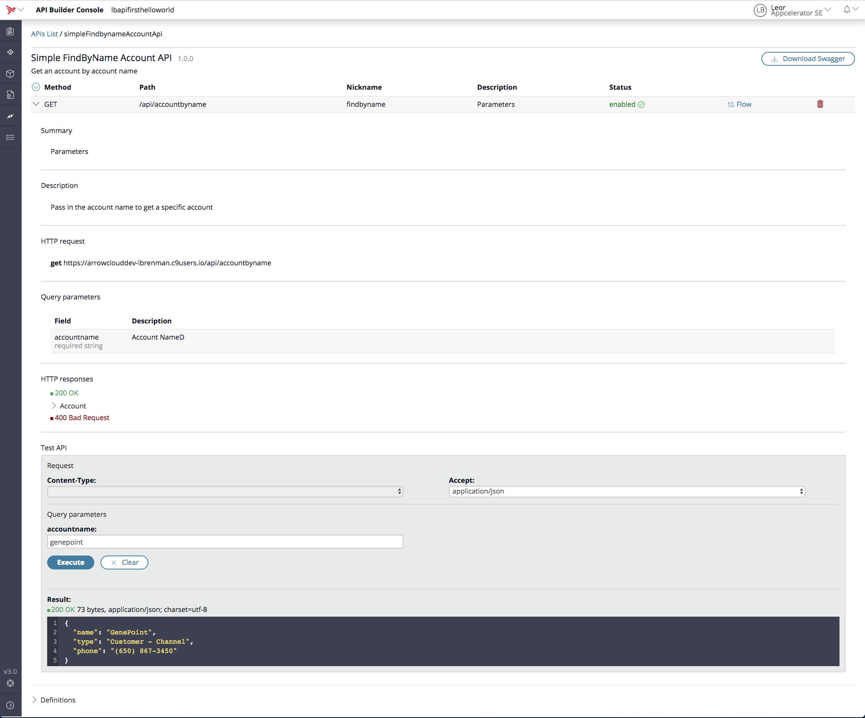 API Builder 3 0: API First Simple Parameter Example