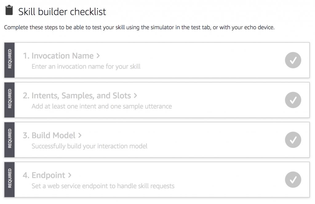 Complete skill builder checklist