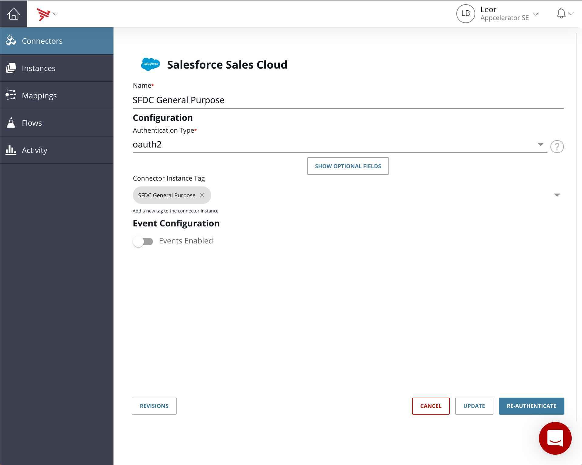 Create a Salesforce Sales Cloud Connector instance
