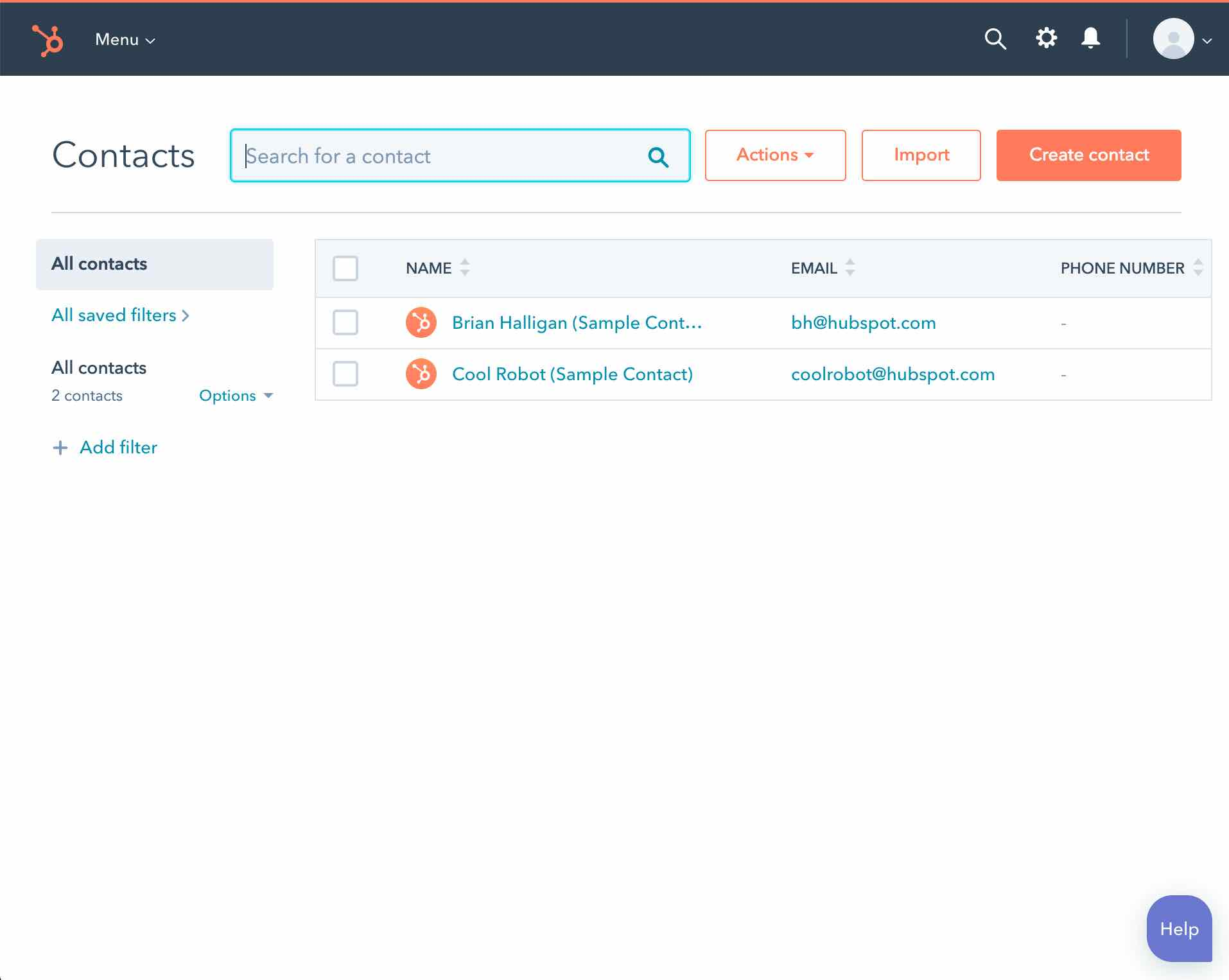 Review our Hubspot contacts
