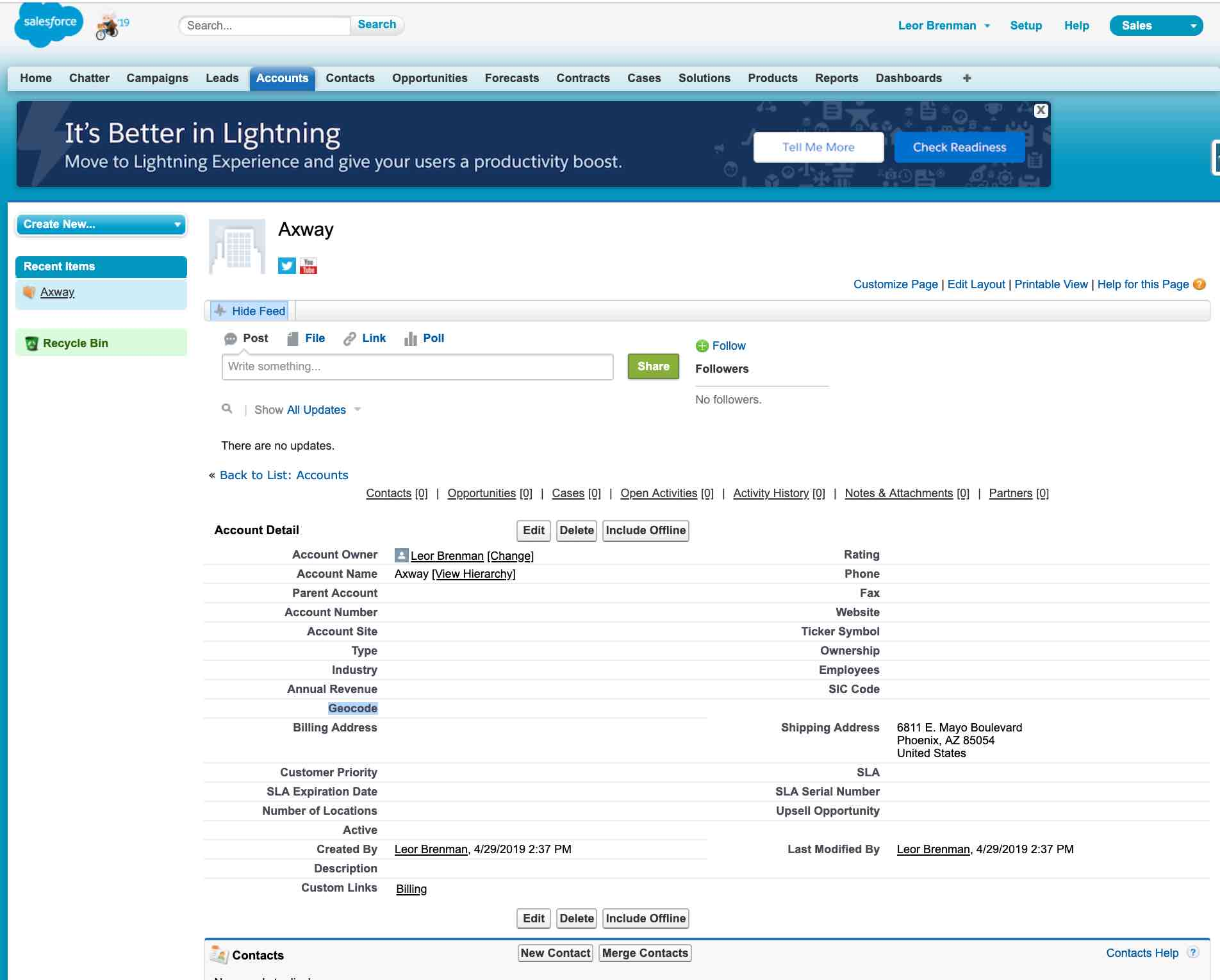 Salesforce screenshot 1