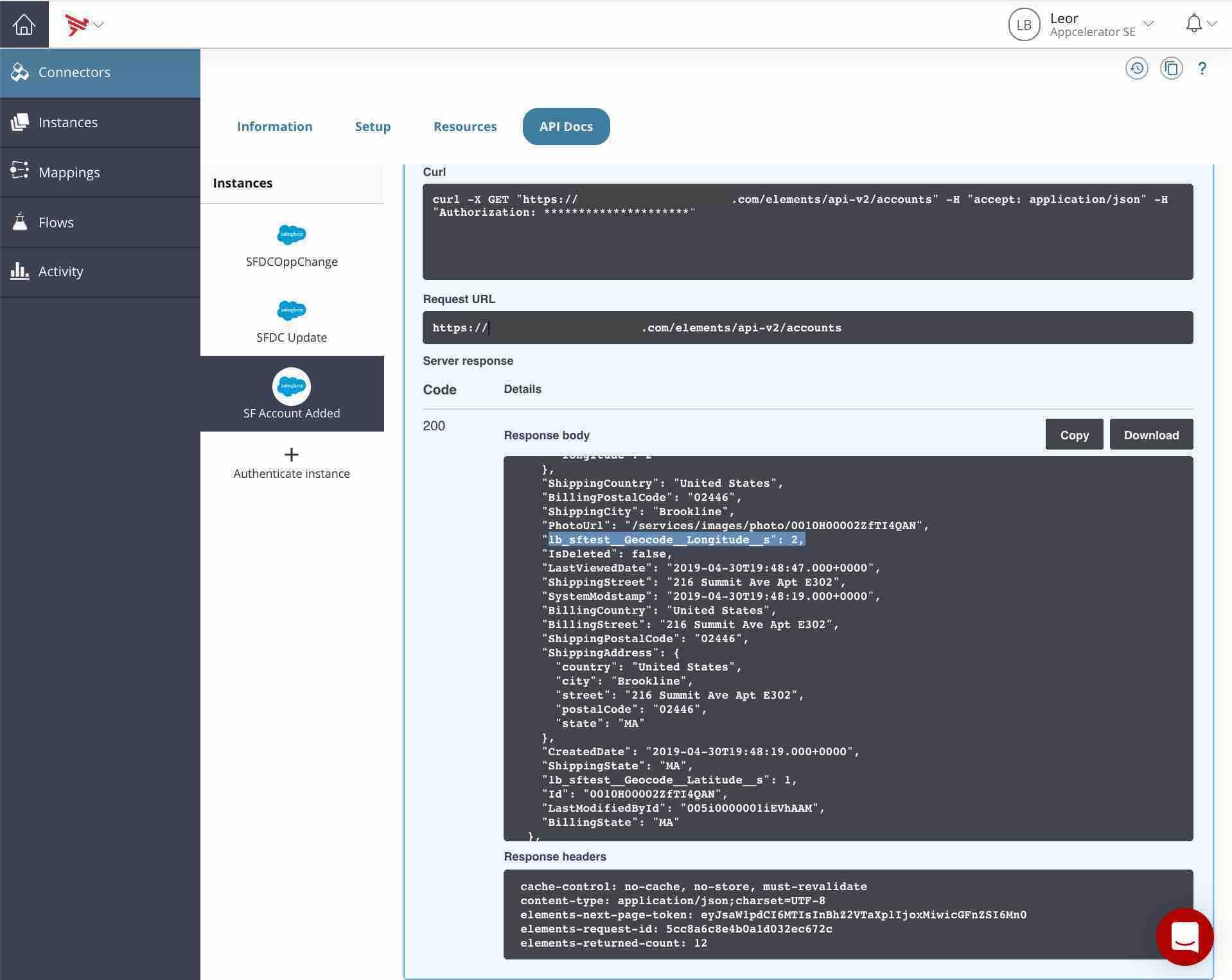 Connectors - API Docs