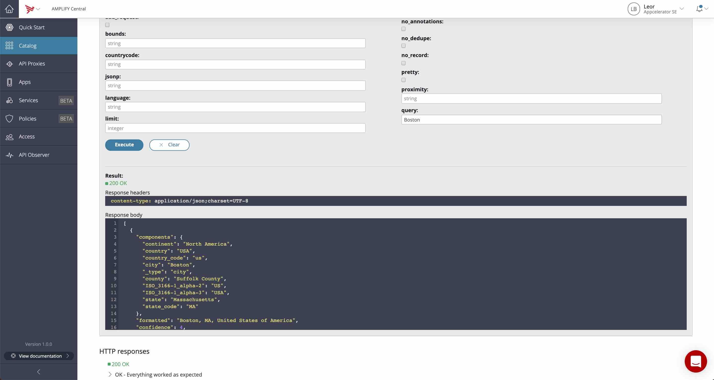 Opencage Geocode API Connector