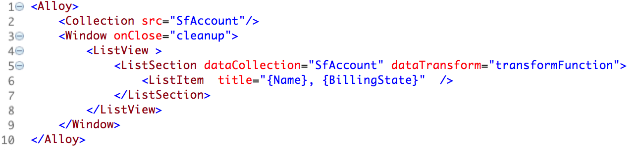 Completed view of index.xml