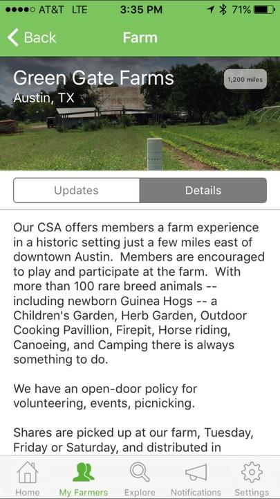 Kakaxi mobile app - Farm details