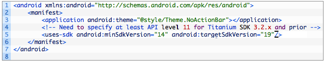 Hiding the Android ActionBar