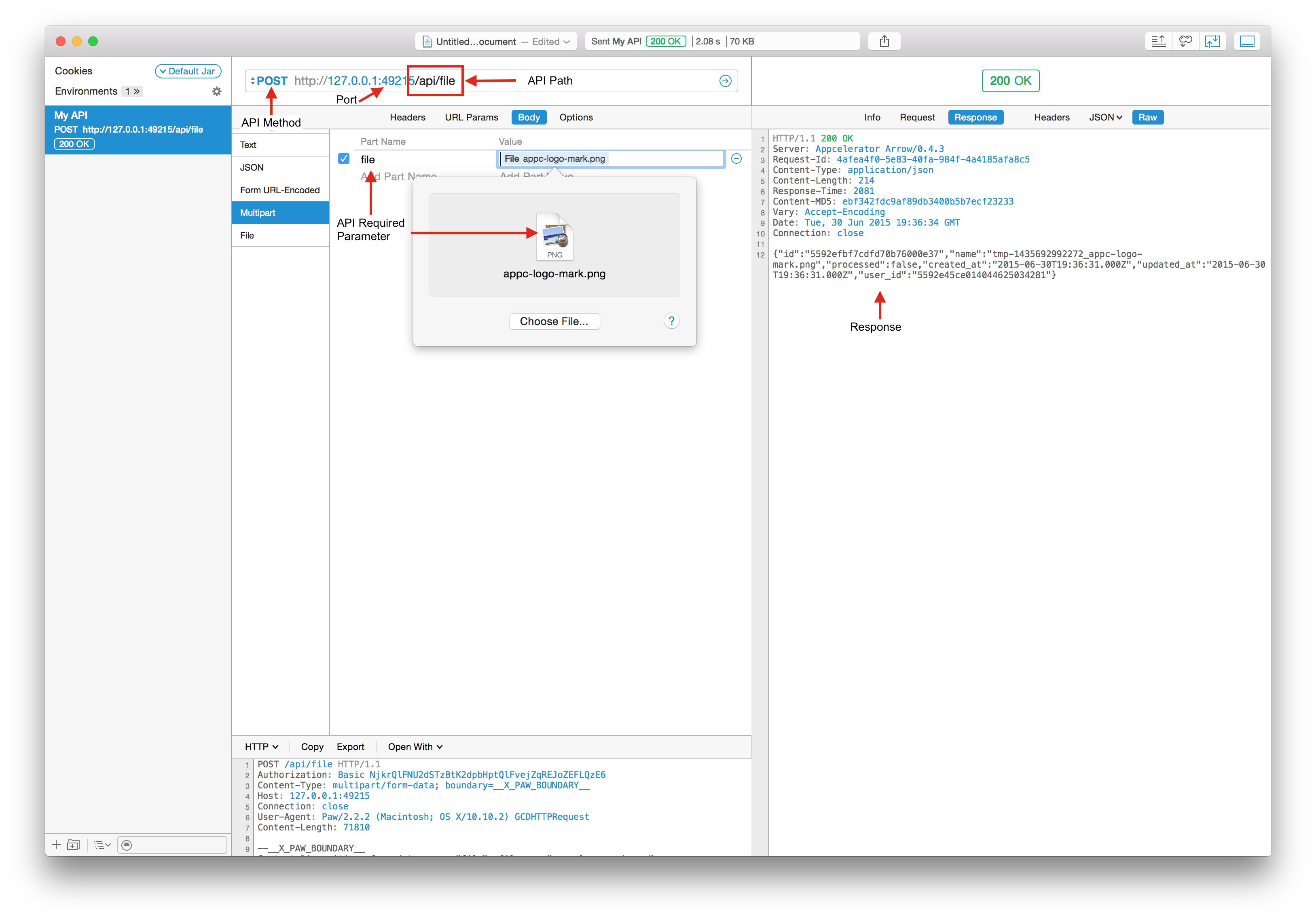 Testing the API in Rest Client